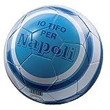 Mondo 13687 - Pallone di Cuoio da Calcio, Misura 5, Io Tifo Napoli