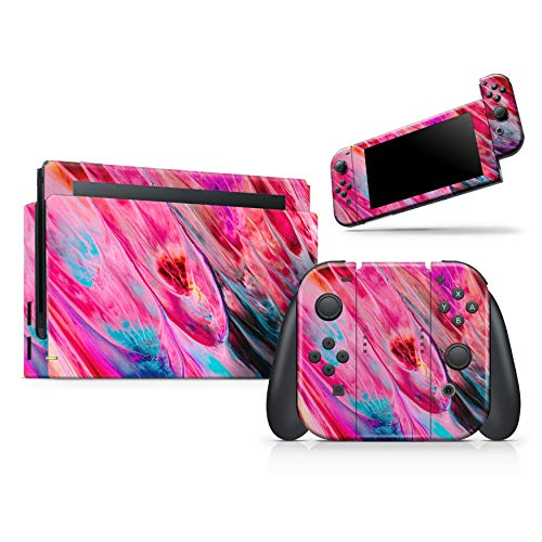 Design Skinz Liquid Abstract Paint V67 - Skin Decal Protective Scratch-Resistant Removable Vinyl Wrap Kit Compatible with The Nintendo Switch Joy-Cons