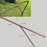 for Coleman 10' x 10' Straight Leg Instant Canopy Gazebo 43 1/4' Peak Truss Bars with Support Replacement Parts