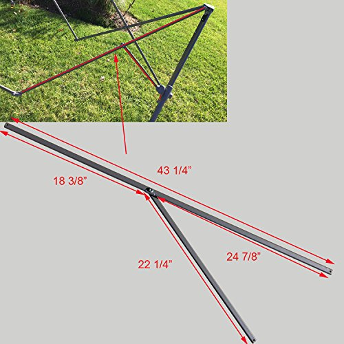 for Coleman 10' x 10' New Style Straight Leg Instant Canopy Gazebo 43 1/4' PEAK TRUSS Bars with Support Replacement Parts