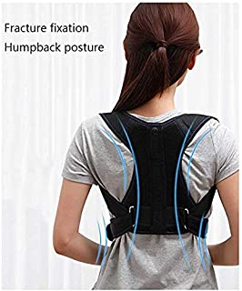 JCM Back Correction with Clavicle Scapula Fixed Adult Child with Strap Correction ZJ (Size : L)