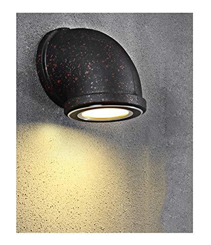Smeedijzer Waterpijp Wandlamp, Creatief Trappenhuisverlichting Retro Stijl, Kunstmatig Oud Proces