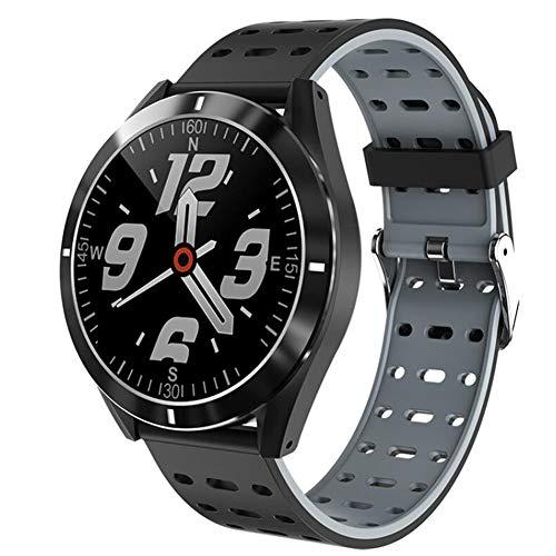 Reloj Inteligente para Hombre, Rastreador De Ejercicios Bluetooth con Monitor De Frecuencia Cardíaca, Pantalla Táctil A Color, Podómetro, Monitor De Sueño Ip67