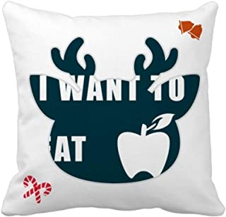 OFFbb-USA Eat Fruits Desire Life - Funda cuadrada para almohada