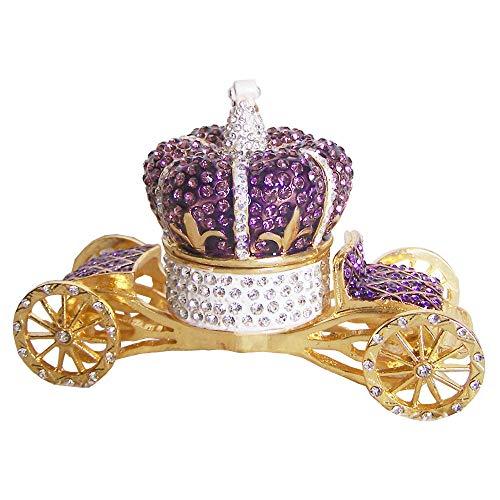 Sculptuur Ornamenten Ambachtelijke Geschenken Kroon Wagen Trouwring Doos Met Juwelen Getooide Snuisterijdoosje Unieke Vintage Decor Doos Metalen Geschenkdoos