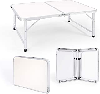 Rolife Folding Camping Table, Adjustable Height, Outdoor Table,Small Portable Lightweight Aluminum Material, Desk for Picn...