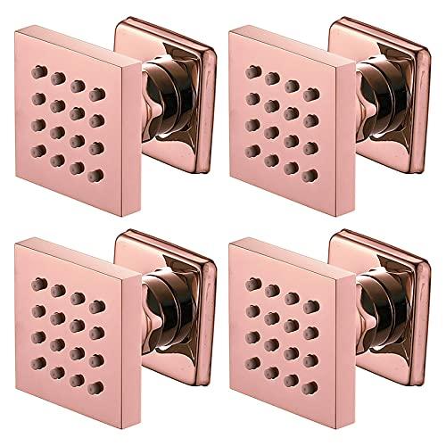 Spray corporal para ducha, 2 pulgadas, latón dorado, accesorios de baño para masajes, montaje en pared, lado de ducha ajustable para ducha, spa, 4 piezas