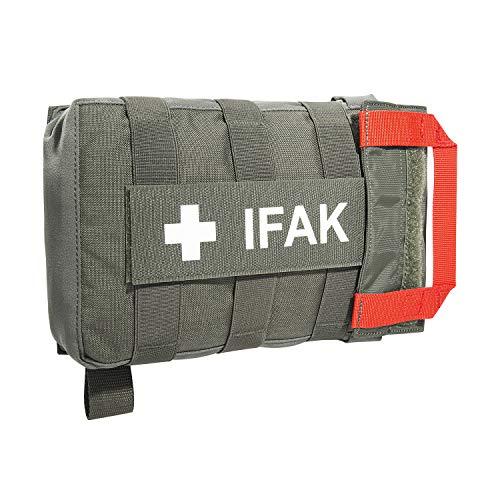 Tasmanian Tiger TT IFAK Pouch VL L Molle-kompatible Erste Hilfe Set Gürtel-Tasche für Wandern Outdoor Reise Polizei-Dienst (Steingrau-Oliv IRR)