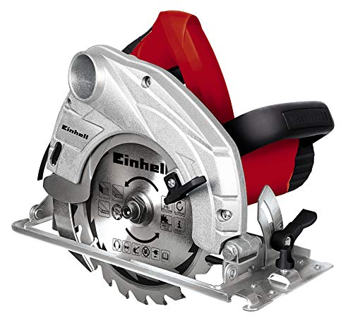 Einhell TH-CS 1200/1 - Sierra circular, 5000 rpm, diámetro de 160 mm, 1230 W, 230 V, color negro y rojo