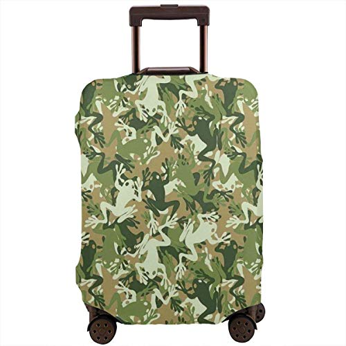 Travel Suitcase Protector Camouflage Military Frog Pattern Luggage Cover Protective Travel Trunk Case Elastic Suitcase Protector Covers Fits 18-21 Inch Luggage