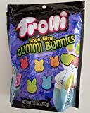 Trolli (1 Bag) Easter Sour Brite Gummi Bunnies Cherry Lemon Orange Strawberry Lime Grape Assorted Tangy Gummy Candy 10 oz / 283 g