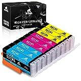 IKONG Cartuchos 551 XL Multipack Reemplazo para Canon CLI-551XL Cartuchos de Tinta Compatible para Canon PIXMA MX725 MX920 MX925 IX6850 IP7200 IP7250 MG5400 MG5450 MG5550 MG5650 MG6450 MG6650 MG7500