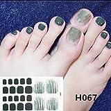 Pegatina de uñas,1 Hojas Pegatinas de uñas de los pies Arte, Adhesivo Pies Impermeables Decoraciones Nail Slider DIY Pegatinas de uñas, 12.6 * 7.2cm, D D1