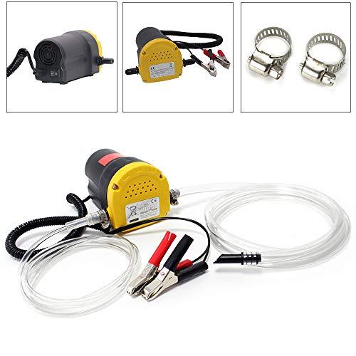 AufuN Ölabsaugpumpe 12V 60W Auto Dieselpumpe Elektrisch Absaugpumpe für Öl und Diesel zum Auto & Motorrad Kraftstoffversorgung und Aufbereitung