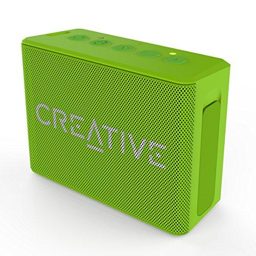 Creative MUVO 1c - Leistungsstarker, kompakter, wetterfester, wireless Bluetooth Lautsprecher (für Apple iOS/Android Smartphone, Tablet/MP3) grün