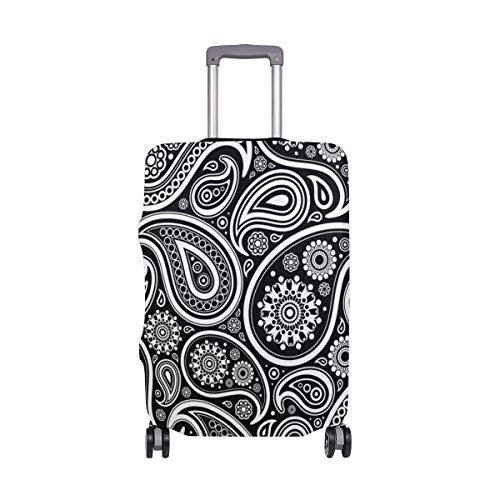 Oriental Pern Paisley Travel Lage Cover - Suitcase Protector Spandex Dust Proof Covers with Zipper,Fits XL29-32in-