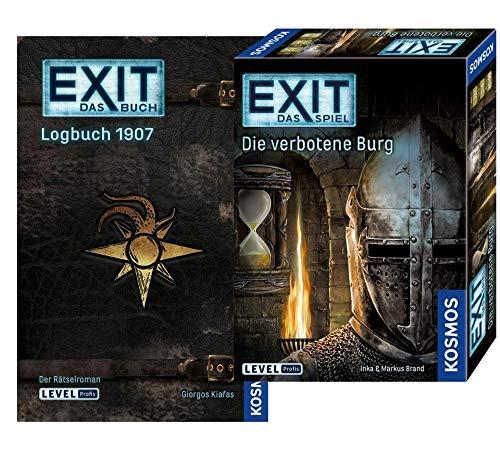EXIT - Das Buch - Logbuch 1907 Libro de bolsillo + Kosmos 692872 Spiel - Die verbotene Burg