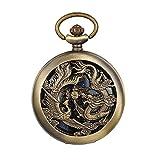 JewelryWe Reloj de bolsillo automático para hombre, clásic