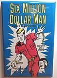 Six Million Dollar Man MAGNET 2'x3' Refrigerator Locker Trading Card Wrapper Gum