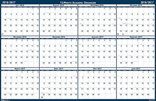 "House of Doolittle 2016-2017 Laminated Academic Wall Calendar, Reversible, 24 x 37"" (HOD395-17)"