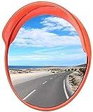 F.L.S Espejo de Tráfico Convexo de Seguridad Calle Convexo Espejo de tráfico, Coches Punto Ciego Espejo Tienda Antirrobo Espejo Intersección Volviendo Seguridad Espejo 45-120CM (Size : 100CM)