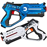 Best Choice Products Set of 2 Kids Infrared Laser Tag Blasters for Kids & Adults w/ 4 Settings, Multiplayer Mode, Lights, Sounds - Multicolor