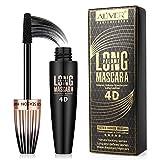 4D Silk Fiber Lash Mascara Cils Volumineux Imperméables et Durables, Mascara 4D Anti-Bavures avec Formule Hypoallergénique pour un Maquillage des Yeux Naturel
