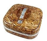 Thermobehälter 2, 4 l Marmor Farbe Essensbehälter Speisetransportbehälter Thermoschüssel mit praktischem tragbaren Griff
