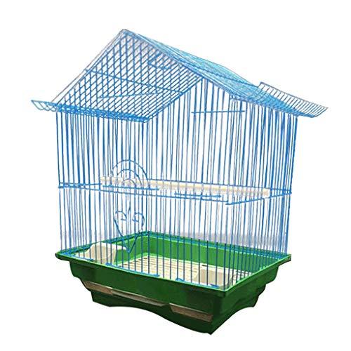 Voliera per pappagalli Top con gancio uccello gabbia 28 * 21 * 38 cm pappagallo uccello placcatura villa a prova di ruggine mestiere ferro gabbia for uccelli 3 colori possono scegliere voliera per ucc