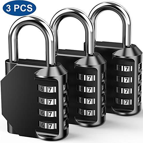 Candados de Combinación al Seguridad, 4 Dígitos - Reponibl