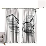 Blackout Curtains Owl Book Wings W96 x L108 Blackout Drapes for Bedroom