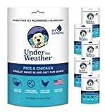 Under the Weather Easy to Digest Bland Dog Food Diet for Sick Dogs - Contains Electrolytes - Gluten Free, All Natural, Freeze Dried 100% Human Grade Meats - Multi-Pack (6 Pack)