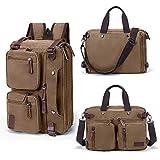 Fresion Retro Canvas Backpack Hybrid Laptop Messenger Bag Casual Bookbag for Teens School