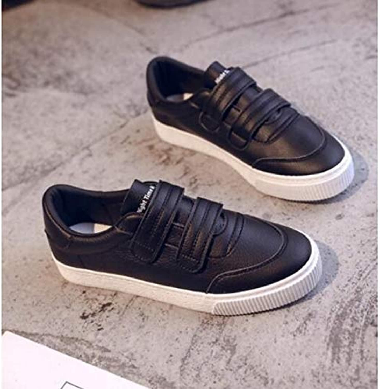 Women's Comfort shoes PU(Polyurethane) Spring & Fall Sneakers Flat Heel White Black