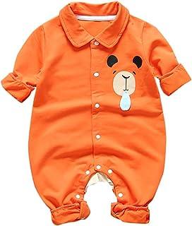 H.eternal(TM), Mono de Solapa, con Botones, para recién Nacido, para niños y niñas, con diseño de Papá Noel, para bebé Naranja Naranja M