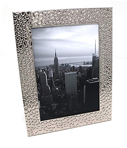 Photo Frame, 7 x 5, Silver Raindrops, Freestanding and Wall Mountable, 7x5 Picture Frame