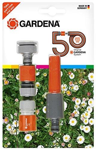 Gardena équipement de base Jubilé Edition à eau, gris/orange, 24,3 x 18 x 4,1 cm