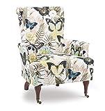 Linon Josie Butterfly Arm Chair, Standard, Brown