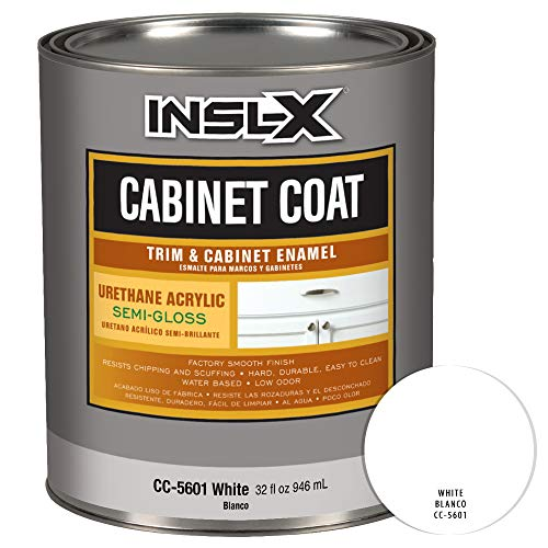 INSL-X CC560109A-44 Cabinet Coat - Semi-Gloss Paint, 1 Quart, White