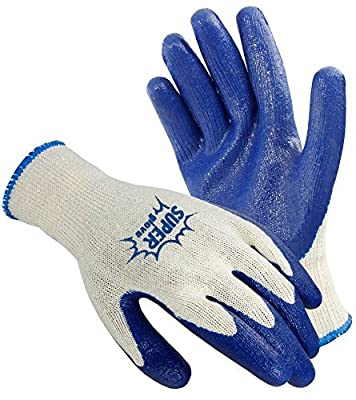 Galeton 6400 Super Gloves Rugged Latex Coated Palm Knit Gloves (Pack of 12)