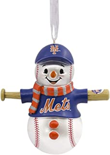 Hallmark MLB Cleveland Indians Baseball Snowman Ornament