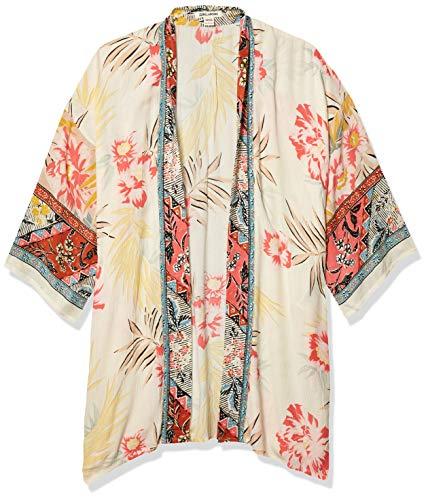 Billabong Women's Fire Nights Kimono, Whisper, S/M