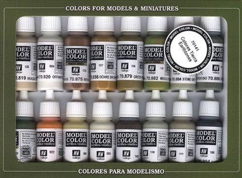VALLEJO-3070141 70141 VALLEJO MODEL COLOR SET DE 16, surtido (3070141