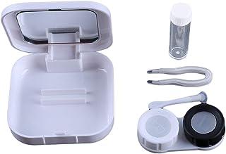 LALANG Cute Contact Lens Box Cartoon Fish Travel Portable Eyewear Case With Mirror