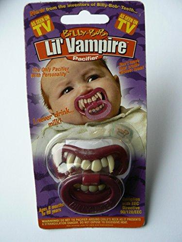 Billy Bob Schnuller Little Vampire - lustiger Vampirschnuller - No Milk Please!