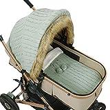 SunshineFace Funda para cochecito de bebé, juego de saco de dormir, para bebé recién nacido, capota de coche para bebés y niñas