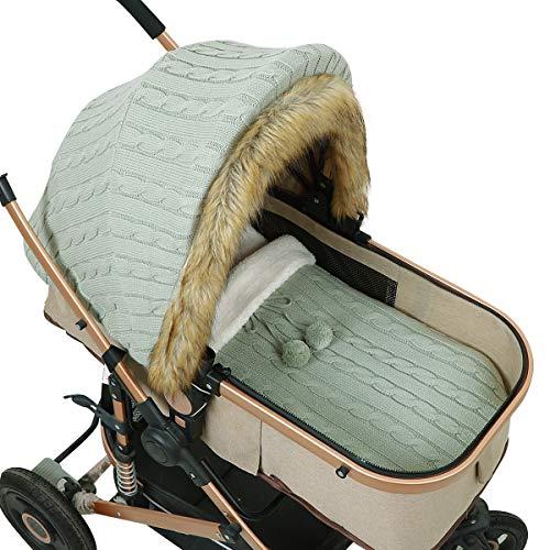 SunshineFace Ensemble de housse de poussette pour bébé, sac de couchage pour nouveau-né, siège auto.