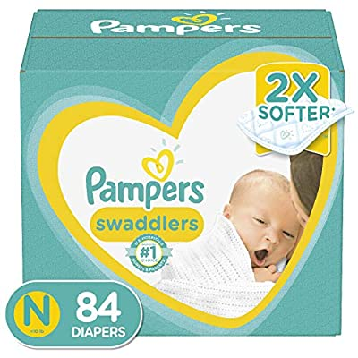 Diapers Newborn/Size 0 (< 10 lb), 84 Count - Pampers Swaddlers Disposable Baby Diapers, Super Pack