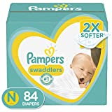 Diapers Newborn/Size 0 ( 10 lb), 84 Count - Pampers Swaddlers Disposable Baby Diapers, Super Pack (Packaging May Vary)