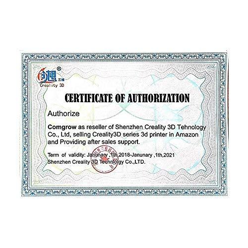 Comgrow Creality Ender 3 Stampante 3D Alluminio DIY con Resume Print Formato di Stampa 220 * 220 * 250mm